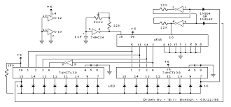 16 stage bi directional led sequencer circuitdb
