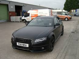 black audi audi a4 advant black edition wrapped in satin black wrapvehicles
