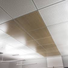 Ceiling Tile Installation Wooden Suspended Ceiling Panel Tile Acoustic 60x60 60x120