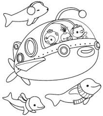 funny octonauts coloring pages cartoon ship free printable