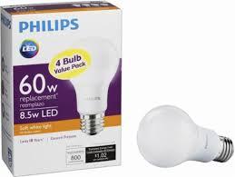 best buy light bulbs philips 800 lumen 8 5w a19 led light bulb 60w equivalent 4 pack