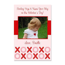 custom valentines day cards custom s day photo card hugs and kisses design