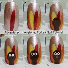 tutorial tuesday flashback to thanksgiving nail art tutorials