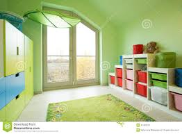 room with green painted walls stock photo image 47432273