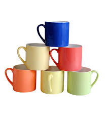 Buy Coffee Mugs Pearl Multicolor Tea U0026 Coffee Mugs Set Buy Online At Best Price