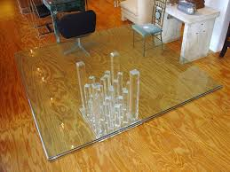 Square Dining Table Design With Glass Top Furniture Cozy Lucite Dining Table With Laminate Wooden