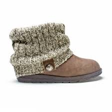 womens grey boots size 9 muk luks patti s knit cuff ankle boots size 9 grey