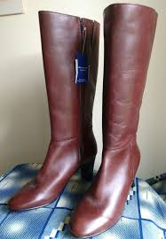 womens boots pavers pavers womens boots uk 8 leather brown knee high boots eu 41