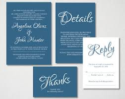Royal Blue Wedding Invitations Blue Wedding Invite Etsy