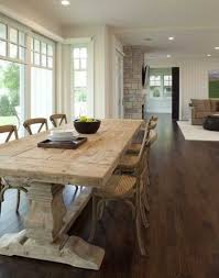 Country Style Wood Table And Chairs In Contemporary Dining Room - Country style kitchen tables