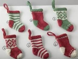 knitted mini and other free knitted ornaments