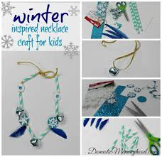 winter inspired necklace kids craft domestic mommyhood