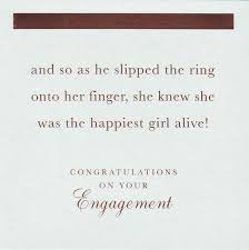 congratulations engagement card happiest girl alive congratulations on your engagement card