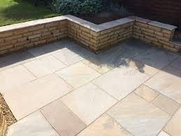retaining wall and patio area tdj construction