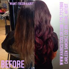 blackberry colormelt balayage highlights and color by hair artist