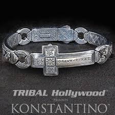 man bracelet cross images Biker jewelry tribal hollywood jpg