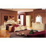 barocco bedroom set esf furniture barocco 4 piece panel bedroom set in ivory w gold