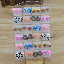 polymer clay stud earrings fashion jewelry polymer clay stud earrings glue needle not