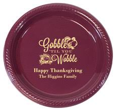 personalized thanksgiving plates cups more the stationery studio