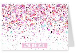 save the date online save the date pink dots invitation cards send real postcards