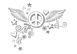 simple attractive free printable peace sign coloring pages