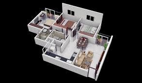 2 Bhk Home Design Layout 25 More 3 Bedroom 3d Floor Plans Architecture U0026 Design