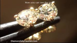 martini diamond 1 16ct faint yellow diamond martini studs r4984 youtube