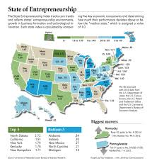 Map Of Kentucky State by Entrepreneurship Index Shows Prairie Catching Up