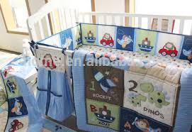 Baby Cot Bedding Sets Baby Cot Bed Car Boat Baby Bedding Sets In Blue Color Buy