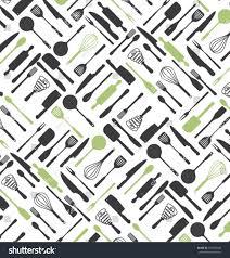 kitchen tools pattern design restaurant menu stock vector