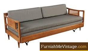 restored vintage 1950s sofa with trundle bed