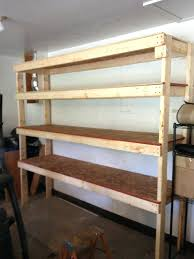 Building Wood Shelf Garage by Diy Garage Shelves 4wood Storage Rack For Wooden Plans U2013 Venidami Us