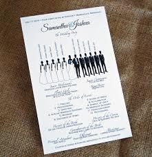 flat wedding programs silhouette bridal party design 5 5 by 8 5 flat wedding program