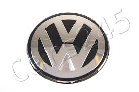 original volkswagen logo genuine brilliant chrome dolomite grey emblem vw beetle cabrio 1y7