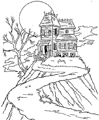 coloring pages houses halloween coloring pages haunted house az coloring pages