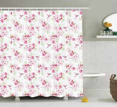 Botanical Shower Curtains Pictures Of Four Seasons Flowers Frames Monet Inspired Botanical