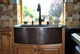 Buy FarmhouseCurvo Kitchen Copper Sink In Cafe Viejo Finish At - Copper sink kitchen