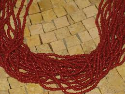 red coral bead necklace images Red coral necklace 20 strands of natural coral seed beads JPG
