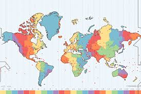 map all what is a time zone