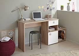 bureau 50 cm profondeur bureau iron chene brut blanc megeve l 158 x h 77 x p 50