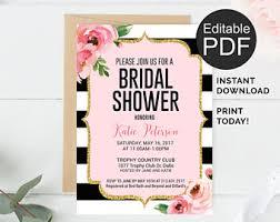 floral bridal shower invitation template kate bridal shower