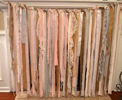 Curtains With Ribbons Diy Fabric Garland Backdrop My Love Of Style U2013 My Love Of Style