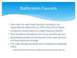 Typical Faucet Flow Rate Statia Sustainable Conference Tourism Water Ppt Download