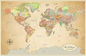Large Vintage World Map by Maps Update 800552 World Map For Travel U2013 World Travel Maps 86