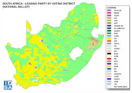 South Africa Political Map by 2014 National And Provincial Elections Results 2014 National And