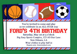 Free Printable Birthday Invitation Cards For Kids Funny Sports Theme For Baby Invitation Cards Emuroom