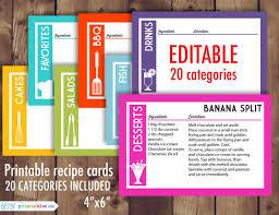 editable 4 6 recipe cards u2013 calendar