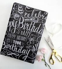 chalkboard wrapping paper happy birthday chalkboard wrapping paper sheets inactive