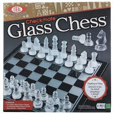 checkmate glass chess set toy at mighty ape nz