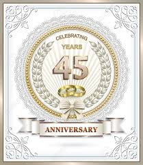 45 wedding anniversary 45 wedding anniversary royalty free cliparts vectors and stock